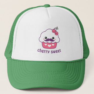 Cute Cherry Cupcake Trucker Hat
