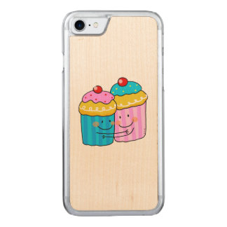 cute cherry cupcakes best friends carved iPhone 7 case