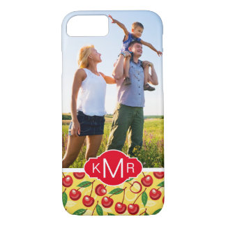 Cute Cherry Pattern | Add Your Photo iPhone 8/7 Case