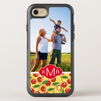 Cute Cherry Pattern | Add Your Photo OtterBox Symmetry iPhone 8/7 Case