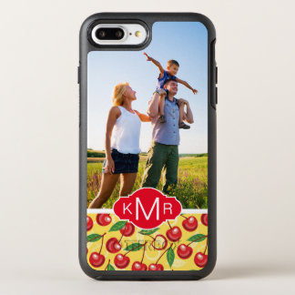 Cute Cherry Pattern | Add Your Photo OtterBox Symmetry iPhone 8 Plus/7 Plus Case