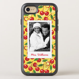 Cute Cherry Pattern | Monogram OtterBox Symmetry iPhone 8/7 Case