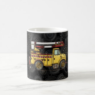 Cute Cherry Picker Truck Basic White Mug