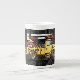Cute Cherry Picker Truck Bone China Mug