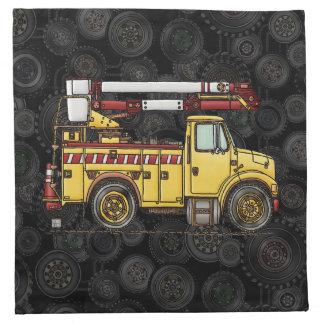 Cute Cherry Picker Truck Printed Napkins