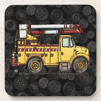 Cute Cherry Picker Truck Drink Coaster