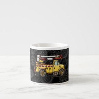 Cute Cherry Picker Truck Espresso Mug