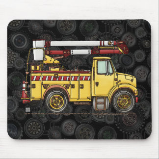 Cute Cherry Picker Truck Mouse Pad