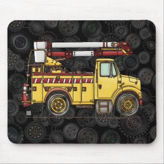 Cute Cherry Picker Truck Mousepads