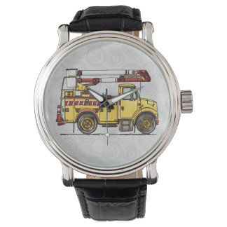 Cute Cherry Picker Truck Wrist Watches