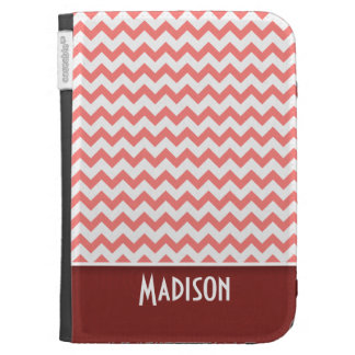Cute Chevron Coral Cases For Kindle