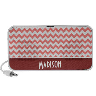Cute Chevron Coral Laptop Speakers