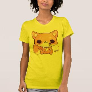 Cute chibi fox with kawaii icecream t shirts