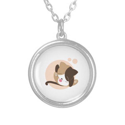 Cute Chibi Kitty Cat 2 Custom Necklace