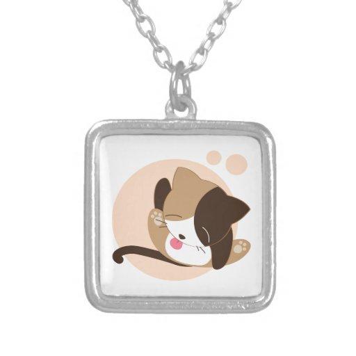 Cute Chibi Kitty Cat 2 Pendant