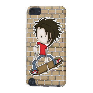 Cute Chibi Skateboarder Teenage Boy iPod Touch 5G Cases