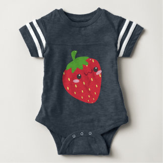 Cute Chibi Strawberry Image Baby Bodysuit