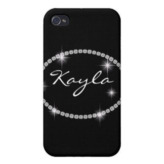 Cute Chic Bling Oval Sparkle I 4s iPhone 4 Cases