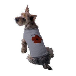 Cute Chic Bright Flower Sleeveless Dog Shirt