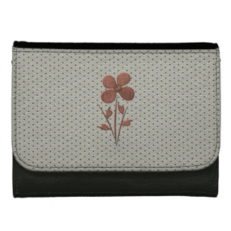 Cute Chic Copper Flower Grey Wallet