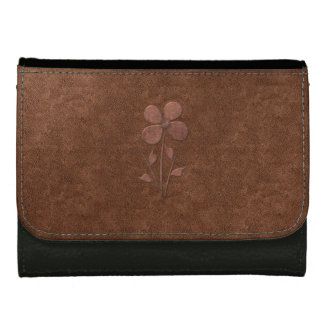 Cute Chic Copper Textured Flower  Wallet