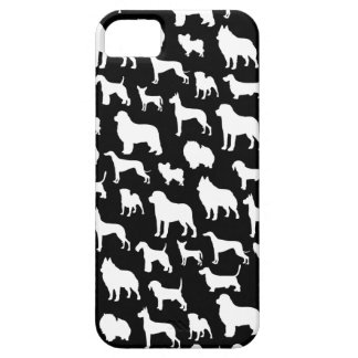 Cute & Chic Dog Silhouette Design on Black iPhone 5 Covers