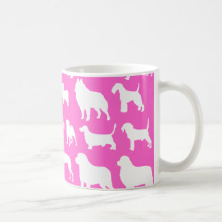 Cute & Chic Dog Silhouette Design on Pink Mug