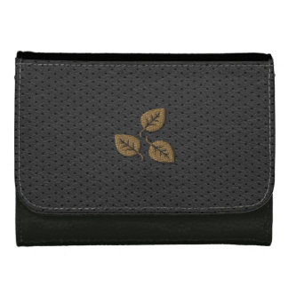 Cute Chic Gold Leaves Wallet