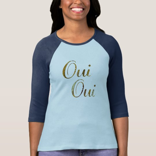 Cute Chic hip Oui oui golden French France