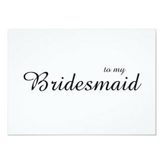 Cute Chic To My Bridesmaid Wedding Thank You Card