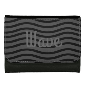 Cute Chic Wave Grey Black Wallet