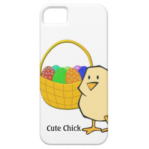Cute Chick Chicken with Easter Basket of Eggs iPhone 5 Cover