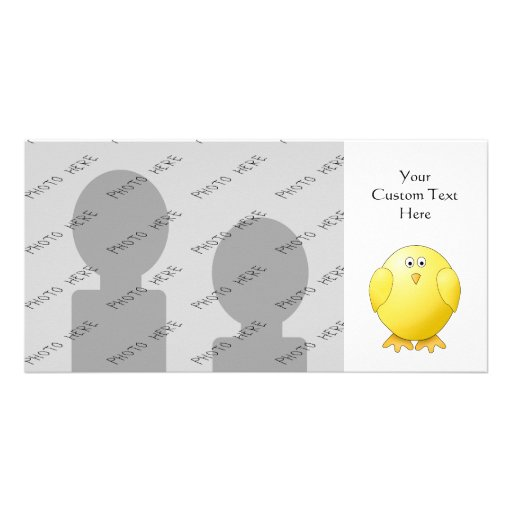 Cute Chick. Little Yellow Bird. Picture Card
