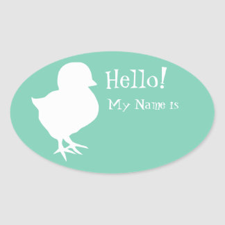 Cute Chick Name Tag