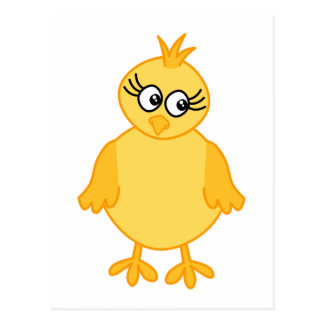 Cute Chick, Yellow Baby Bird. Postcard