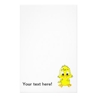 Cute chicken cartoon personalized stationery