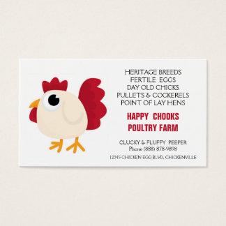 Cute Chicken Doodle Egg Farm Business Card