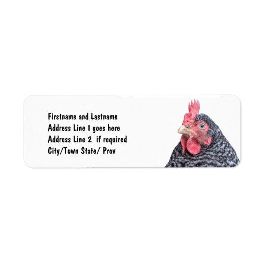 Cute Chicken Photo Customised Address