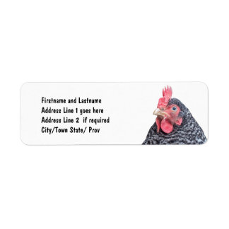 Cute Chicken Photo Customized Address Return Address Label