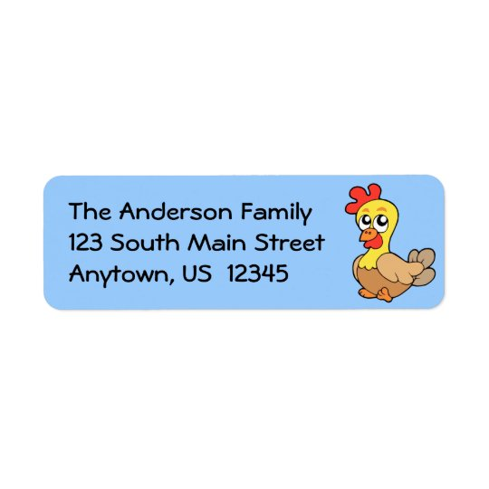 Cute Chicken Return Address Label