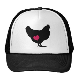 Cute Chicken with Pink Heart Cap