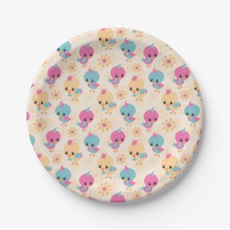 Cute Chicks paper plates