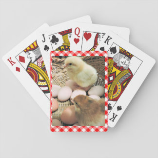 Cute Chicks Photograph Playing Cards