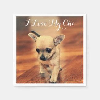 Cute Chihuahua Paper Napkins Add Photo