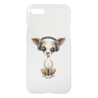 Cute Chihuahua Puppy Dj Wearing Headphones iPhone 7 Case