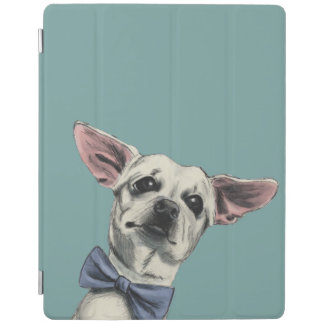 Cute Chihuahua with Bow Tie Drawing iPad Cover