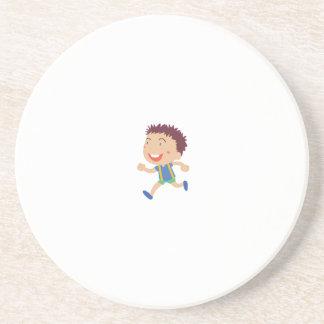 Cute child illustration drink coaster