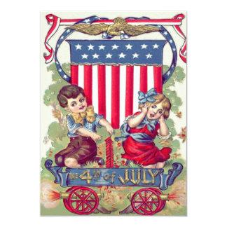 Cute Children American Shield Cannon 13 Cm X 18 Cm Invitation Card