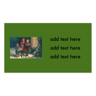 Cute Children Carolers Caroling Pack Of Standard Business Cards