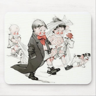 Cute Children Doing The Wedding March Mouse Pads